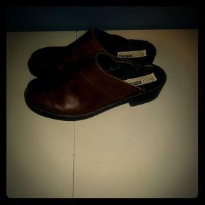 Josef Seibel Women's Brown Leather Mules Size 7.5